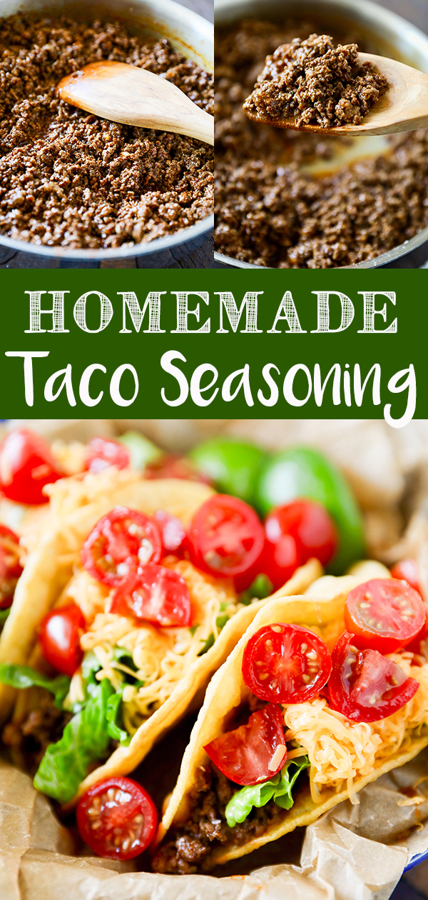 This Homemade Taco Seasoning Recipe is so easy to make and perfect for making a quick dinner! A flavorful blend of spices, that you probably already have on hand are combined to make tasty homemade tacos. More family favorite recipes on number-2-pencil.com. #familyfavorites