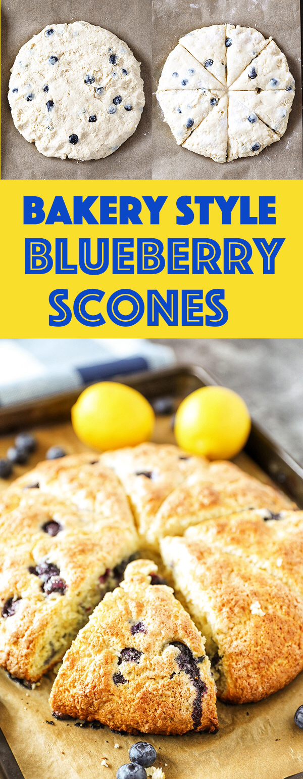 Bakery Style Blueberry Scones Recipe