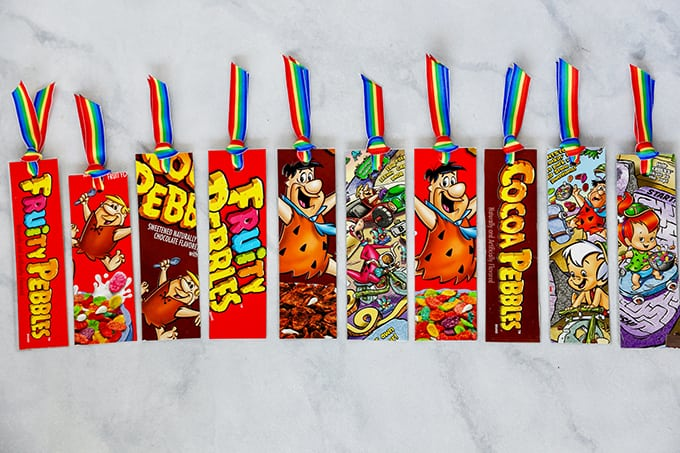 DIY Bookmarks from Recycled Cereal Boxes