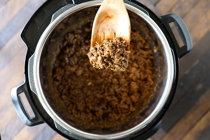 Instant Pot Ground Beef Taco Meat from Frozen