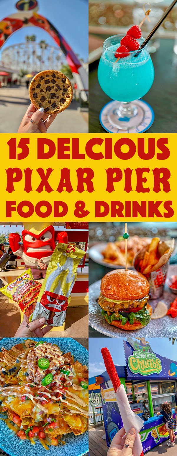 The best Pixar Pier Food & Drinks at Disneyland's new Pixar Pier. From Lobster Nachos to Jack Jack's Num Num Cookies, these are the can't miss foodie finds at Pixar Pier.