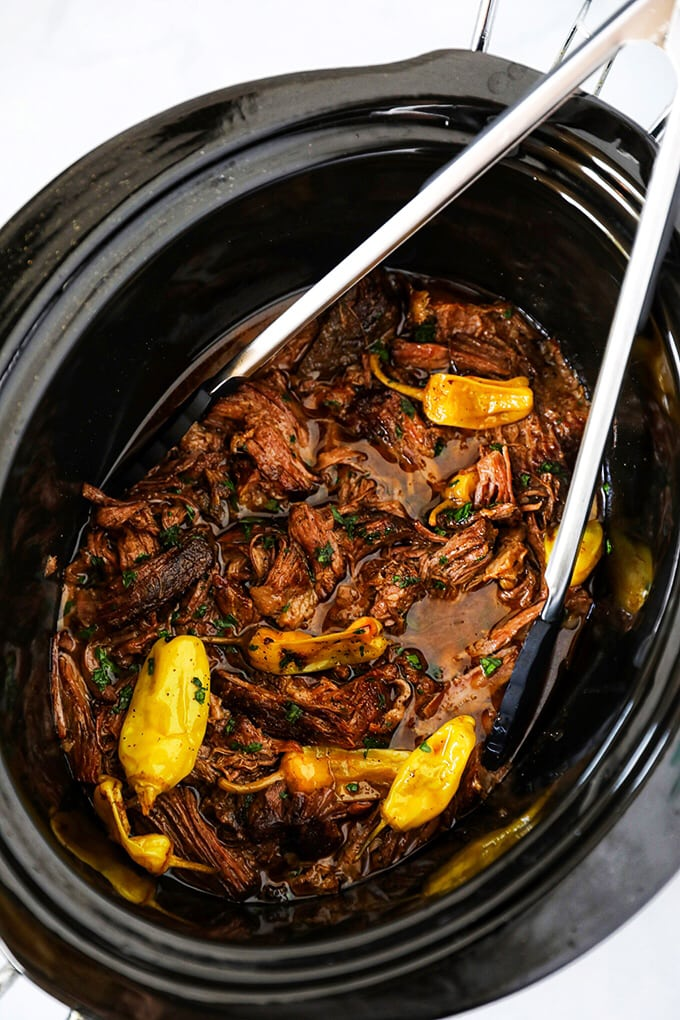 Mississippi Pot Roast Slow Cooker Recipe with Homemade Ranch Dressing