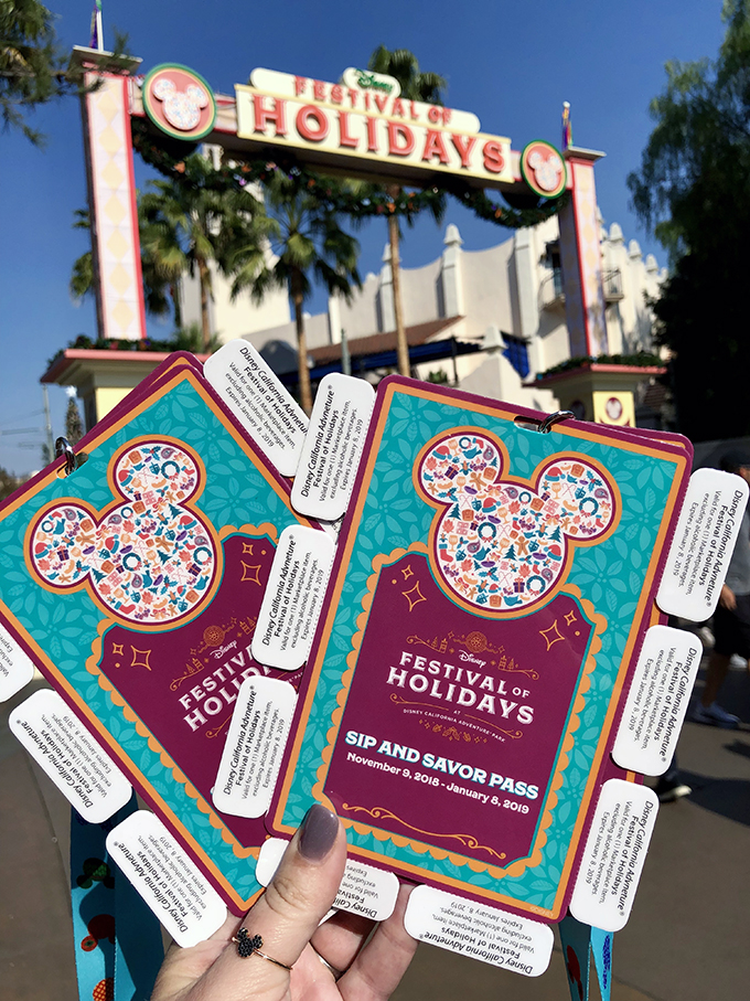 Disneyland's Festival of Holidays Sip and Savor Pass
