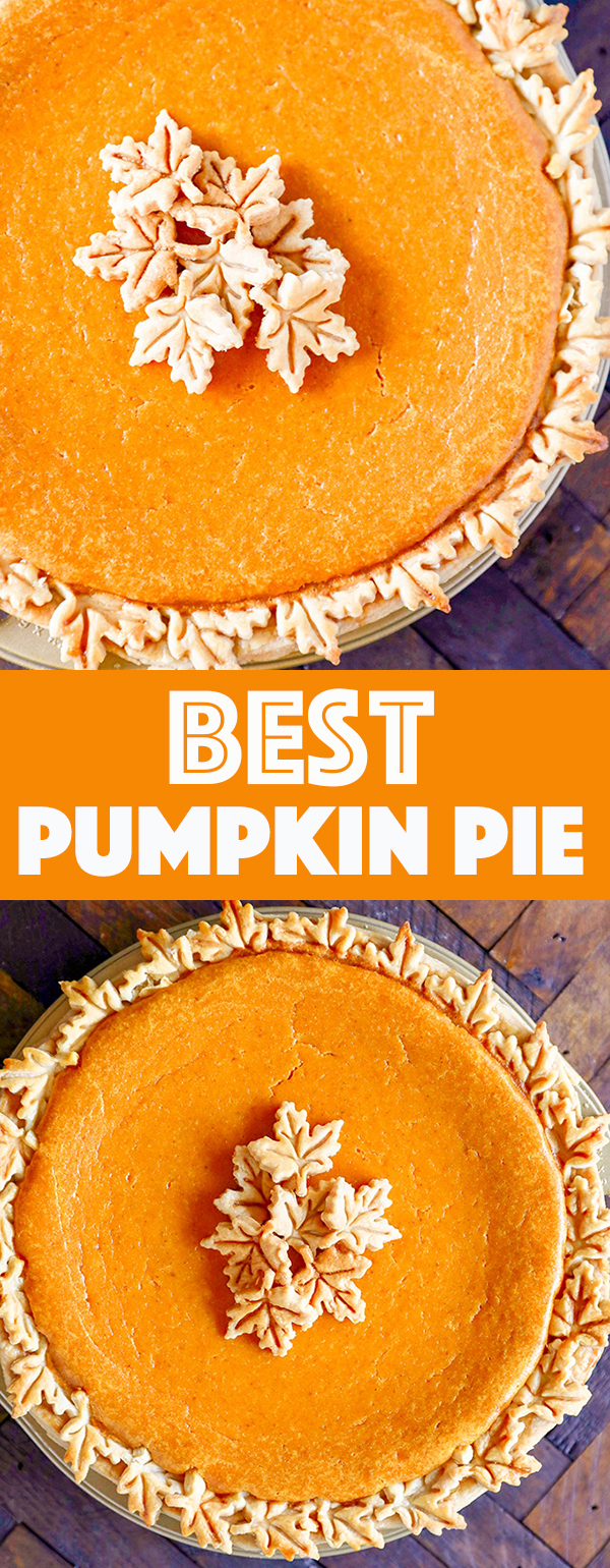 Best Pumpkin Pie Recipe - Smooth and creamy with the perfect balance of pumpkin and spice, my family looks forward to this every year!