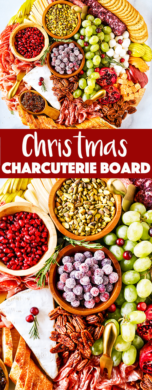 Christmas Charcuterie Board - easy holiday party idea!