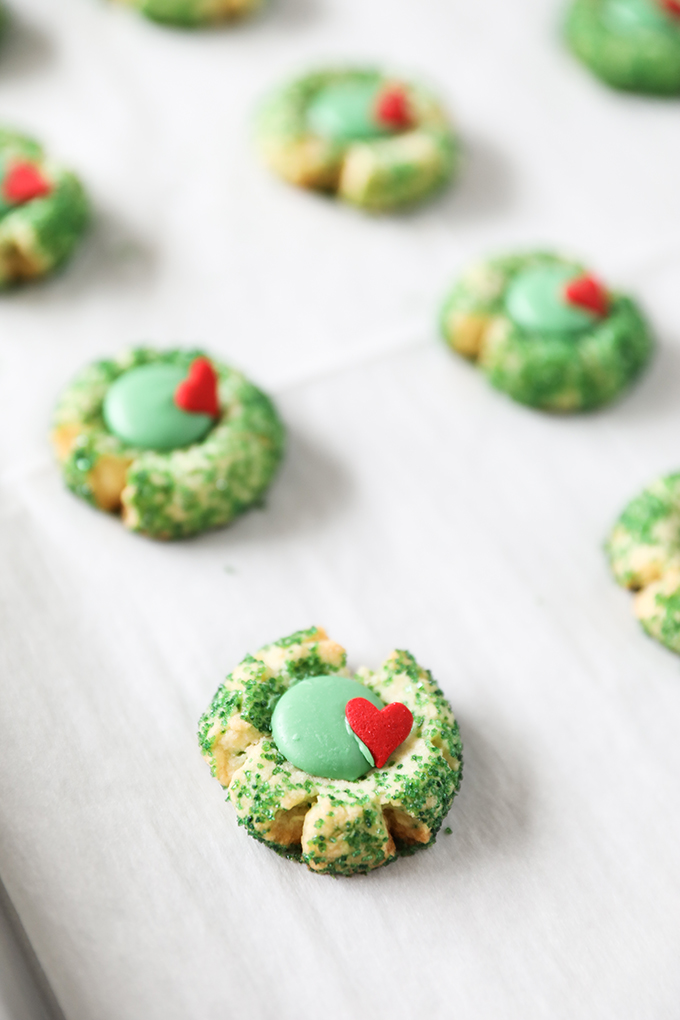 Grinch Cookies Grinch Inspired Christmas Thumbprint Cookies No 2