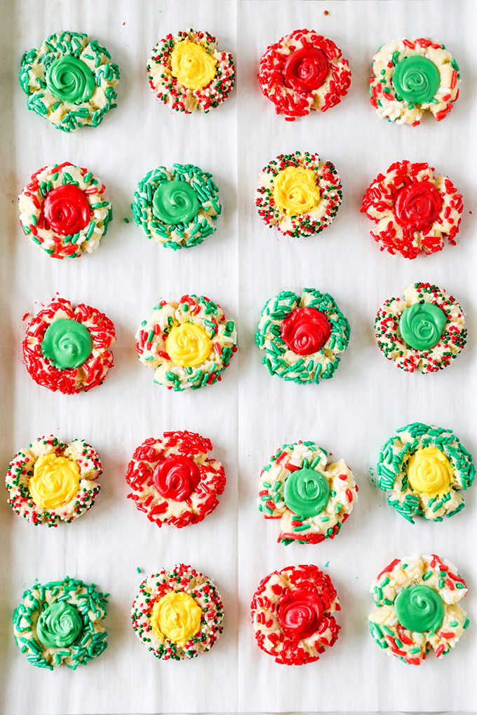 Christmas Thumbprint Cookies