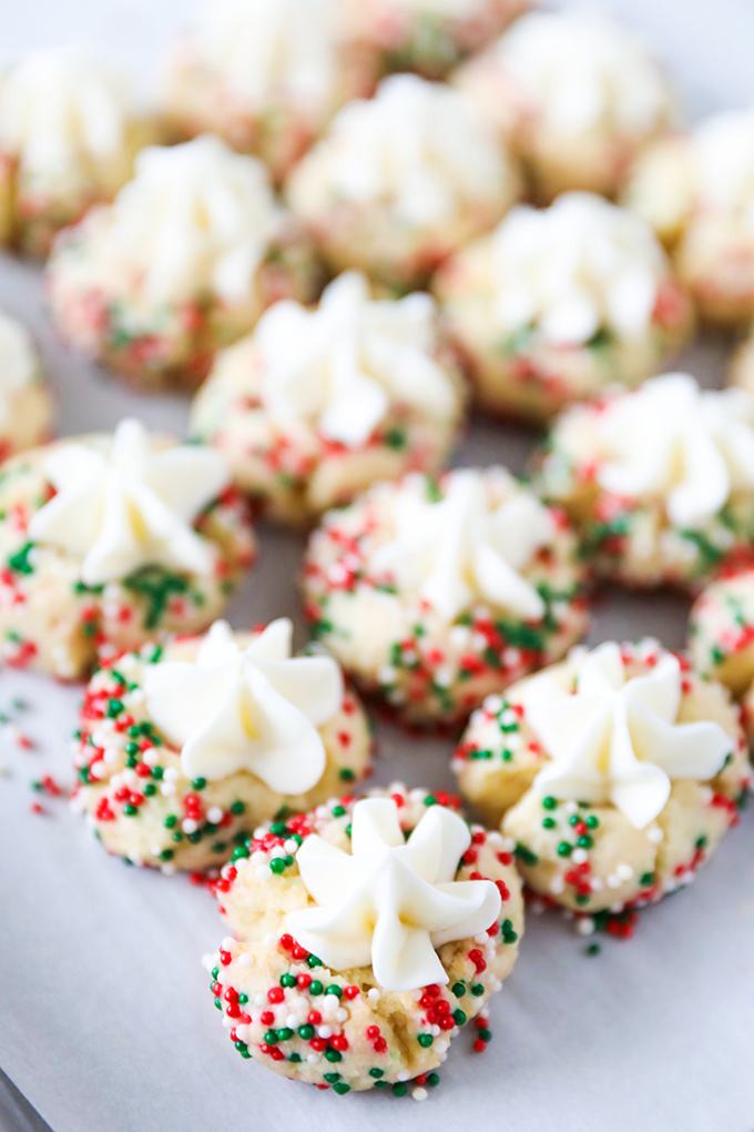 Frosted Christmas Thumbprints