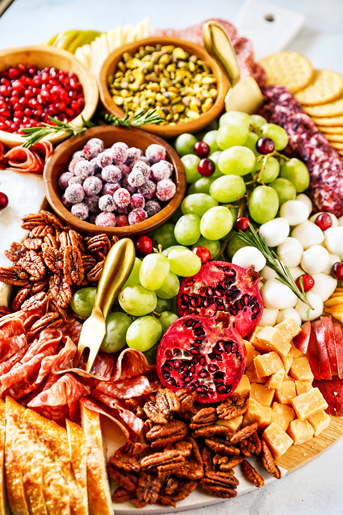 Christmas Charcuterie Board - easy holiday appetizer idea!