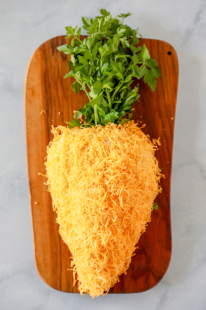 Easter Appetizer - Carrot Cheese Ball