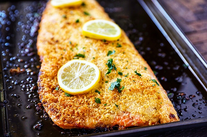 Parmesan Crusted Salmon Fillet
