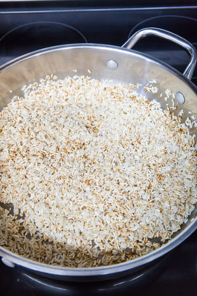 Toasted Rice to Make Mexican Rice
