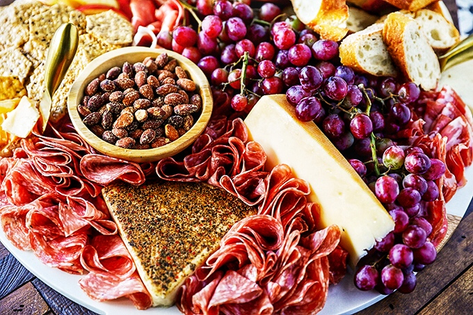 Costco Charcuterie Board -This budget-friendly Charcuterie Board is made up entirely of Costco goodies. This board is easy to put together and perfect for feeding a crowd!