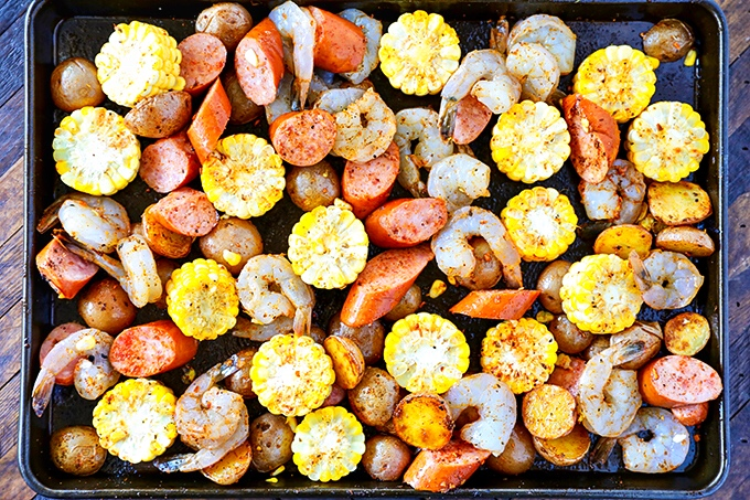 Shrimp Boil on a Sheet Pan