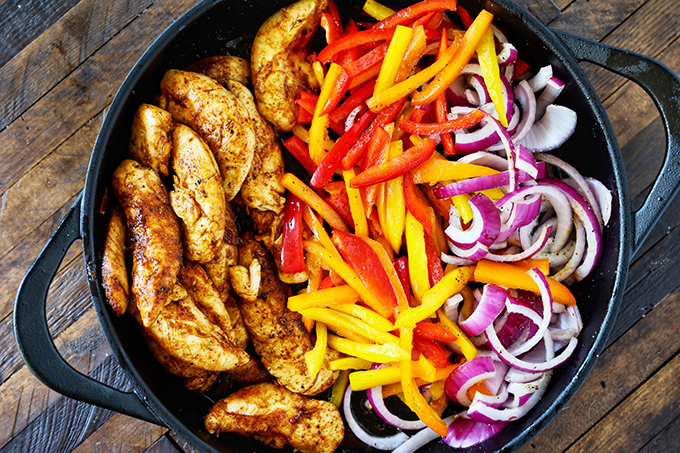 Loaded Skillet Chicken Fajitas