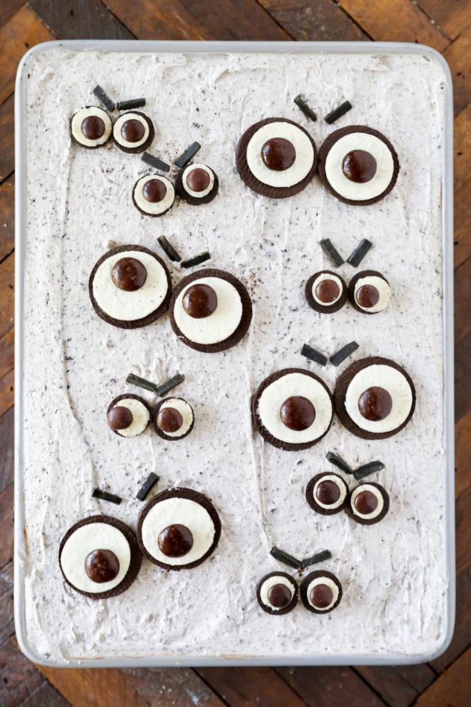 Angry Eyes Halloween Cake
