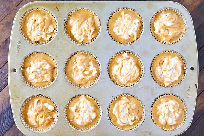 Swirled Pumpkin Muffins