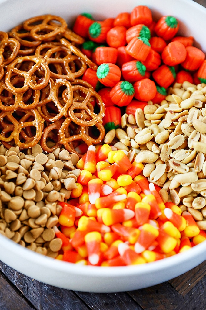 Sweet and Salty Candy Corn Snack Mix