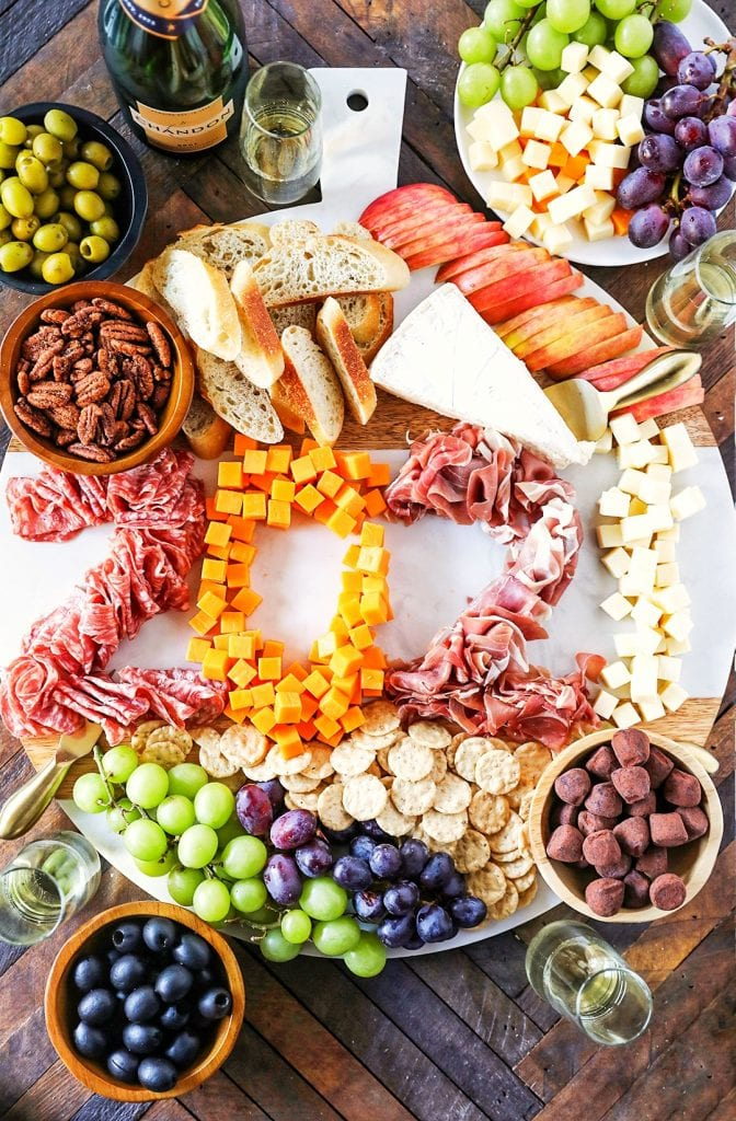 New Year's Eve Charcuterie Board - No. 2 Pencil