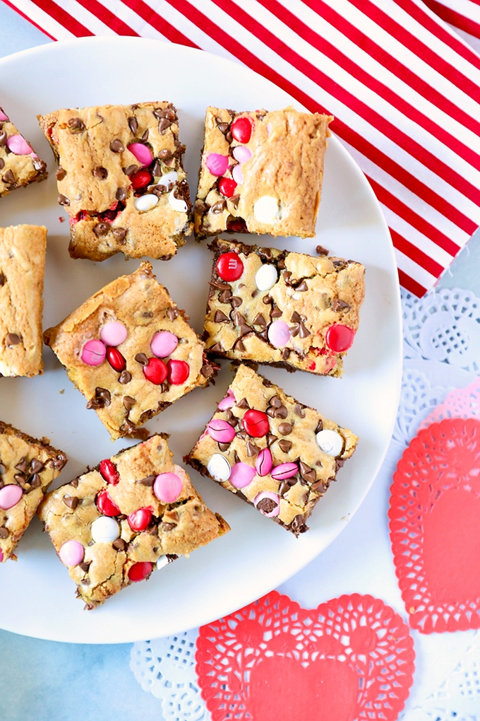Valentine's Day Cookie Bars