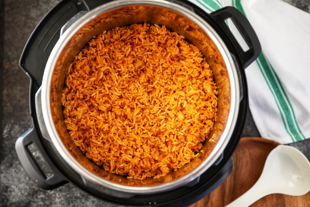 Cooked Mexican Rice in Instant Pot