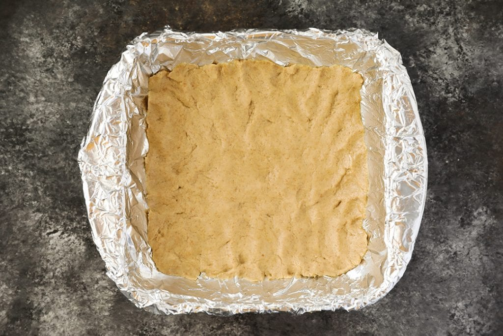 First Layer of S'mores Bars