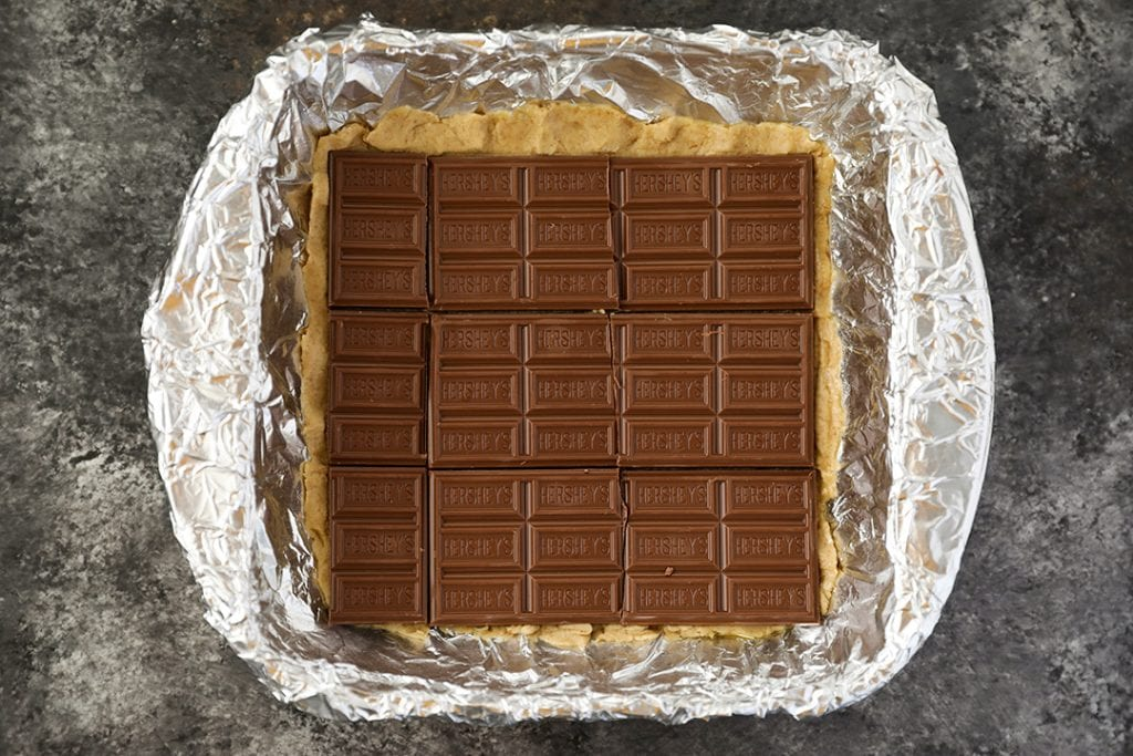 Second Layer of S'mores Bars with Hershey's Chocolate Bars