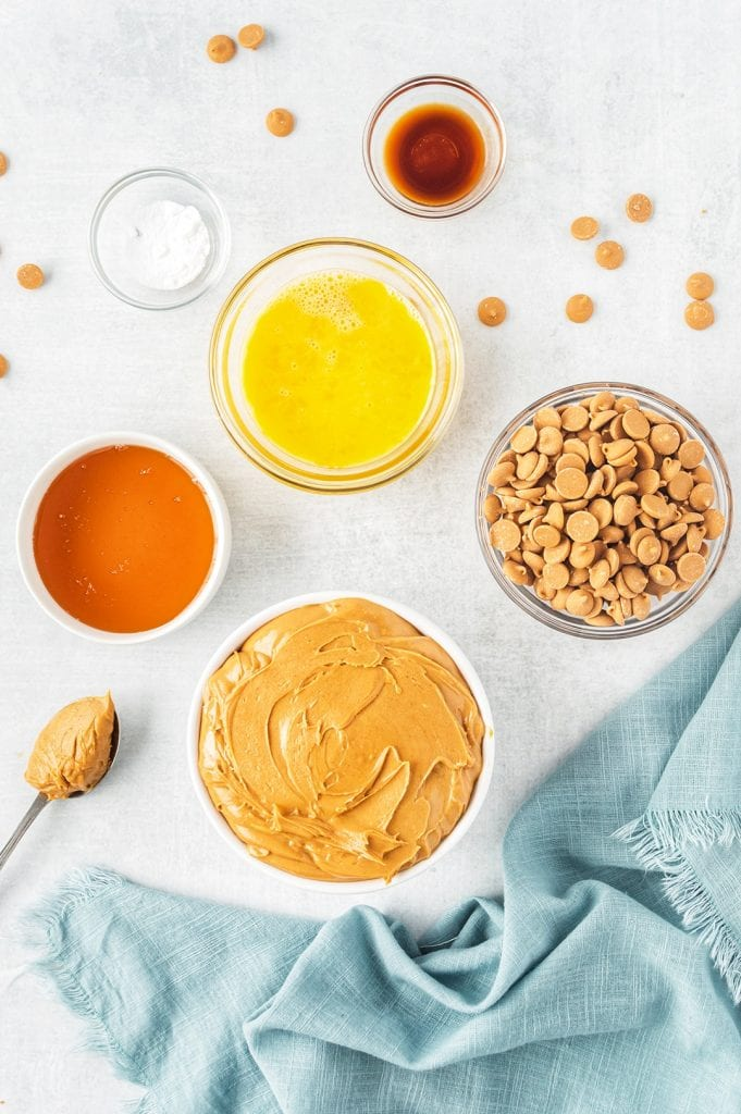 Ingredients for Soft Peanut Butter Cookies