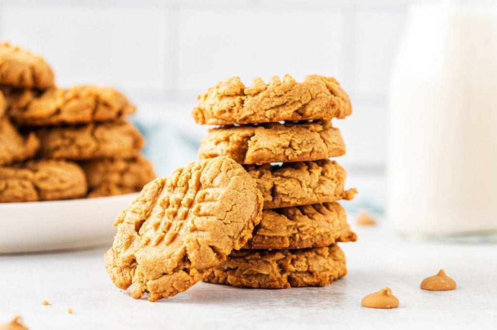 Soft Peanut Butter Cookies after Baking