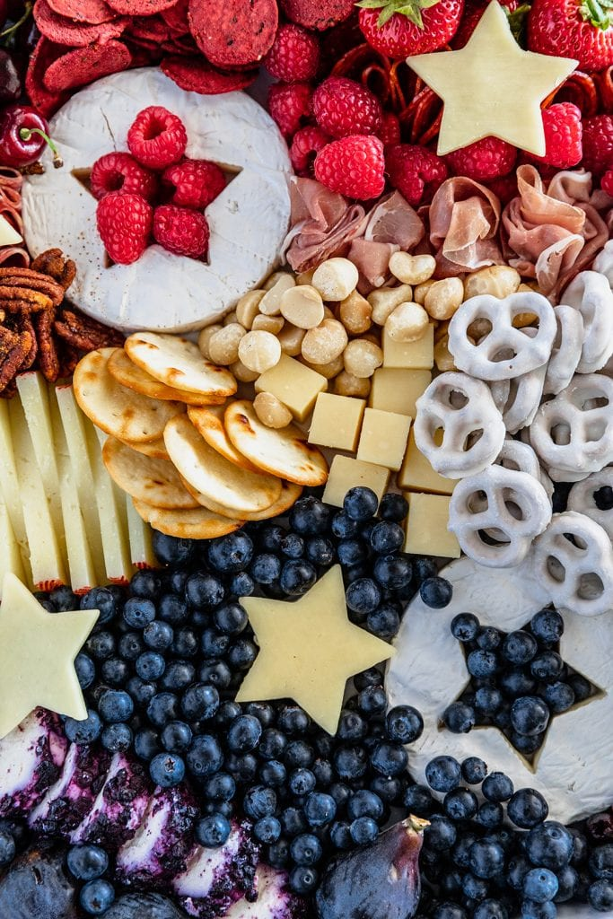Red, White, and Blue Charcuterie Board