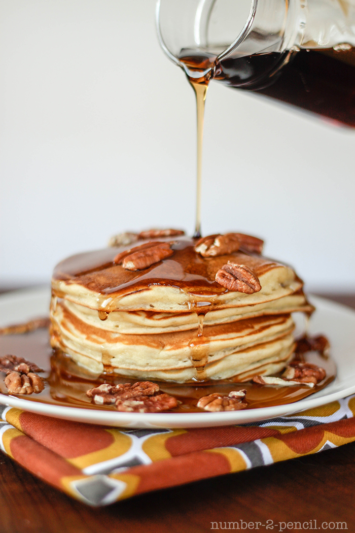 Banana Pancakes with Brown Butter and Toasted Pecan - No. 2 Pencil
