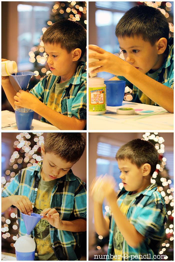 DIY Glitter Ornament for Kids
