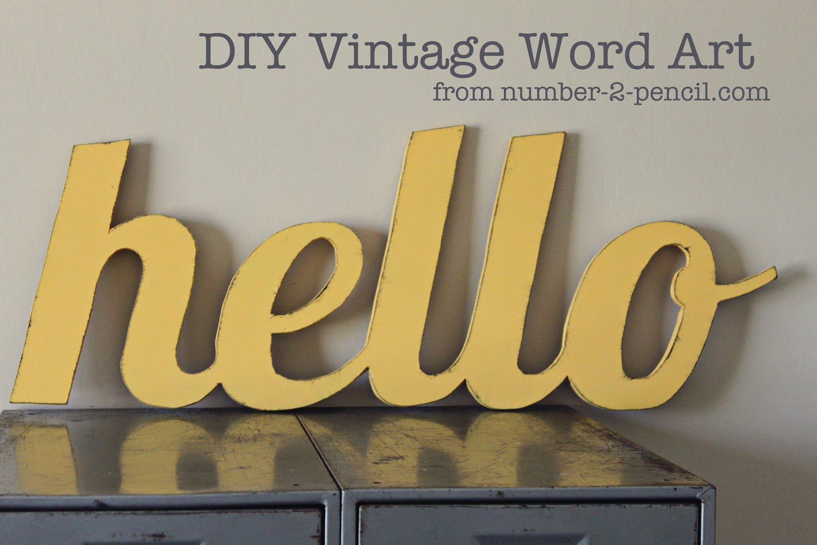 diy vintage word art no 2 pencil