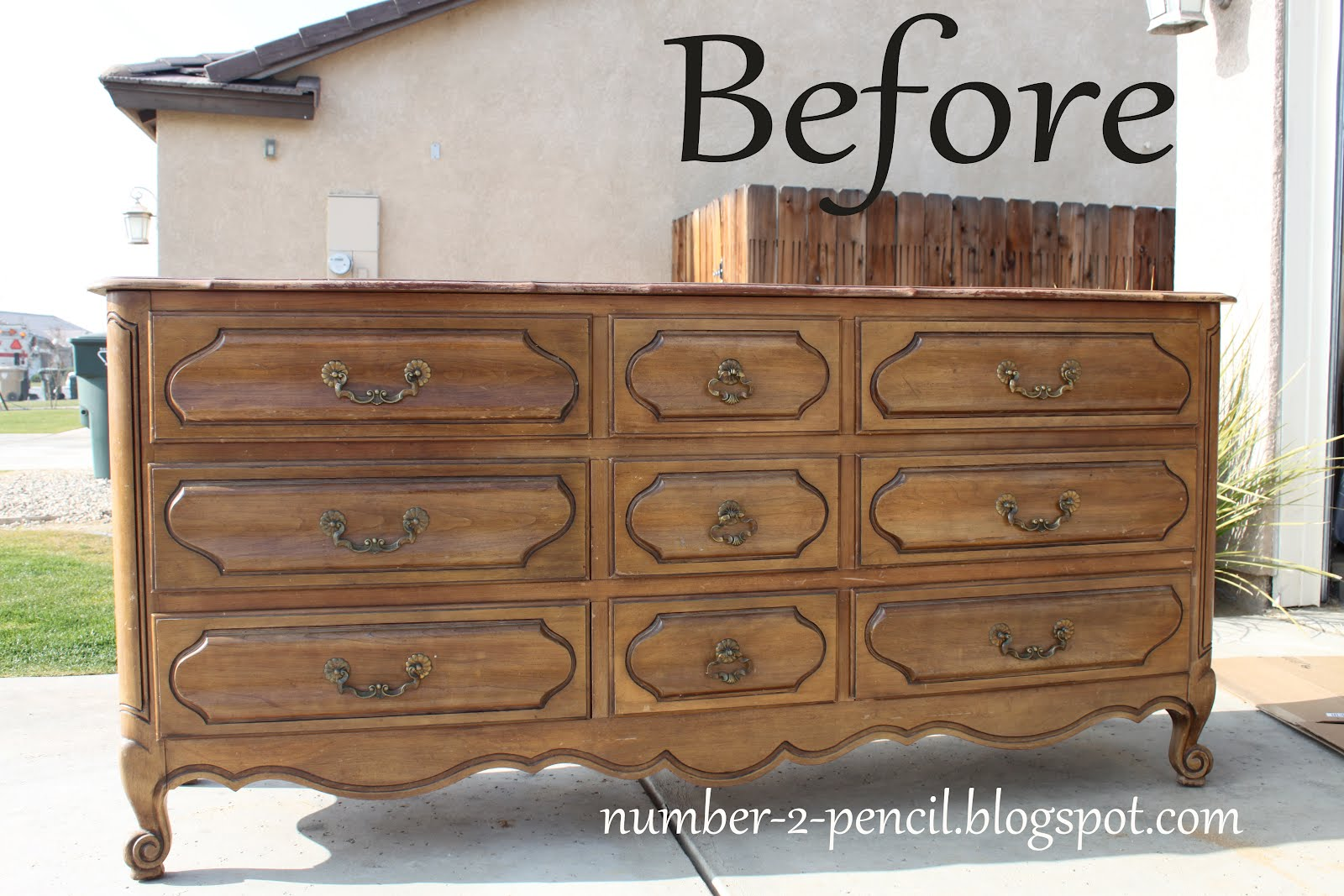 Vintage Dresser Into Media Center No 2 Pencil