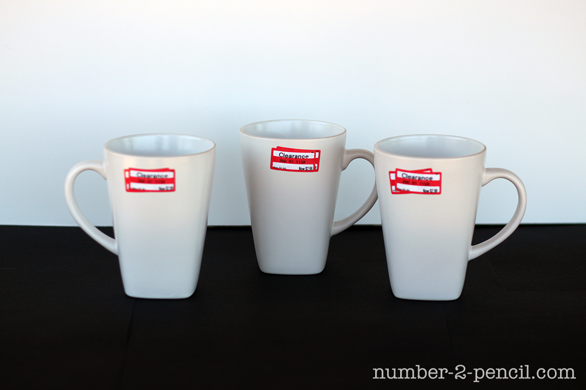 Diy Painted Ceramic Mugs With Martha Gl Paint And Stencils No 2 Pencil