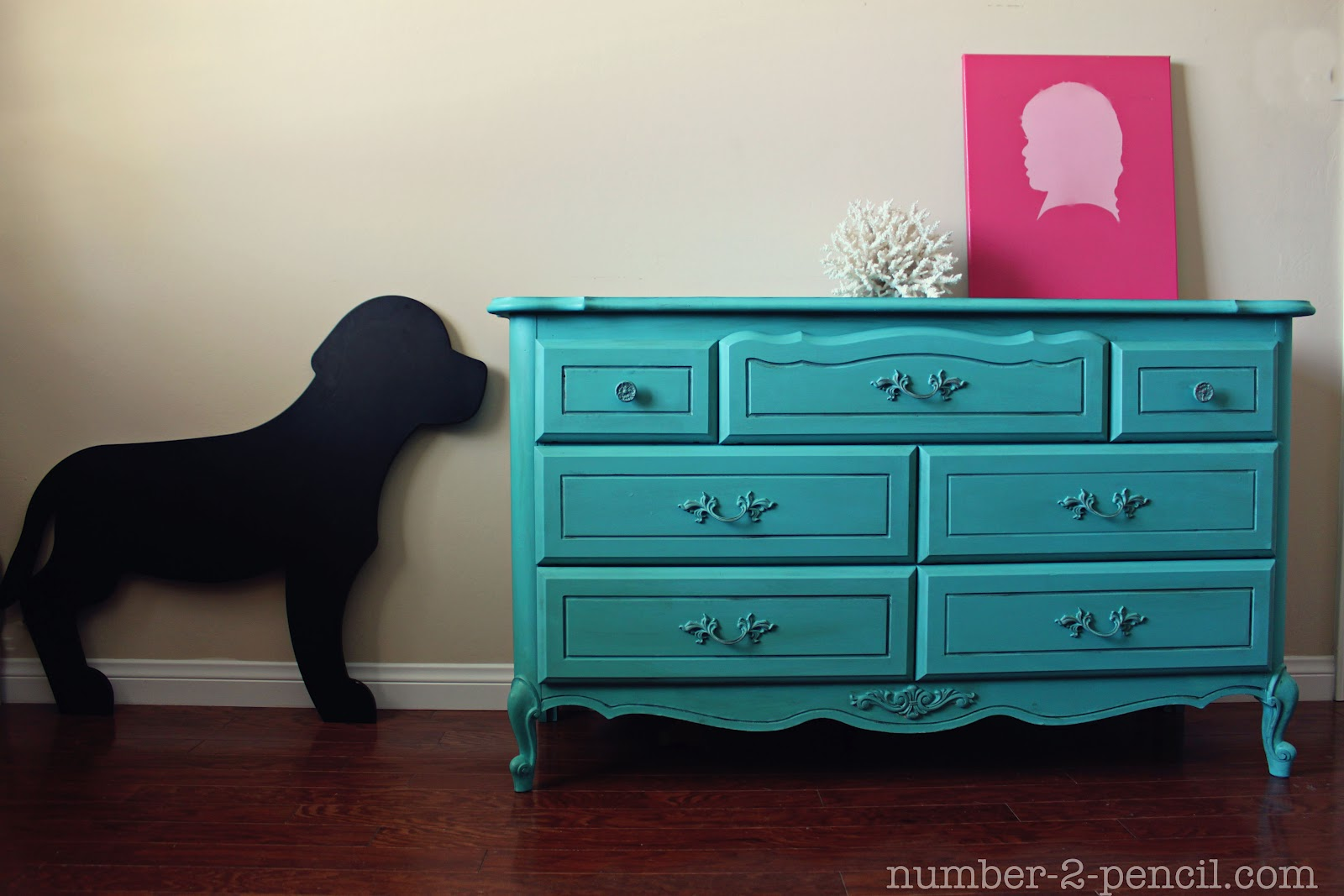 Turquoise dresser makeover with chalk paint no 2 pencil Best color to paint dresser