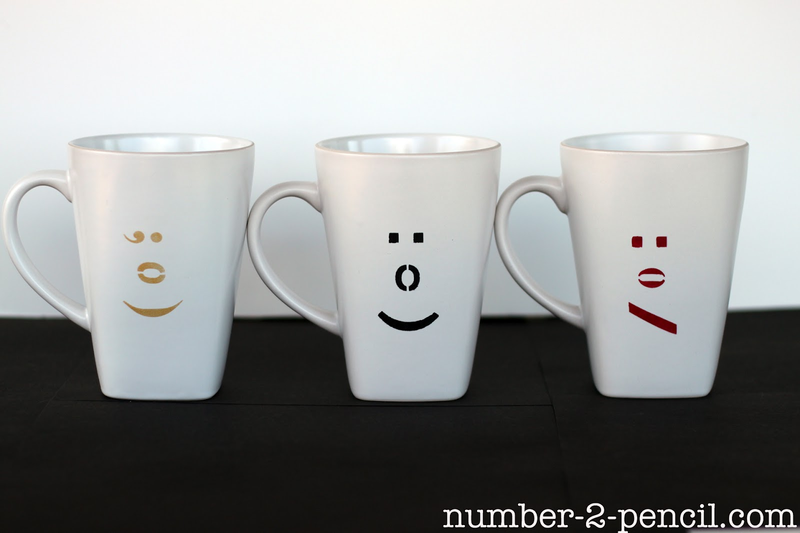 Diy Painted Ceramic Mugs With Martha Stewart Glass Paint And Stencils No 2 Pencil