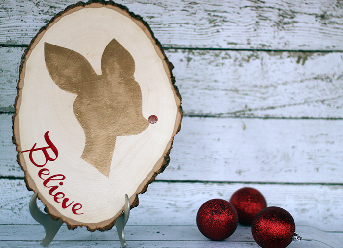 Rudolph Silhouette Christmas Sign Tutorial