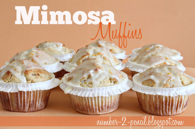 Mimosa Muffins - Champagne Muffins with a Sweet Orange Glaze