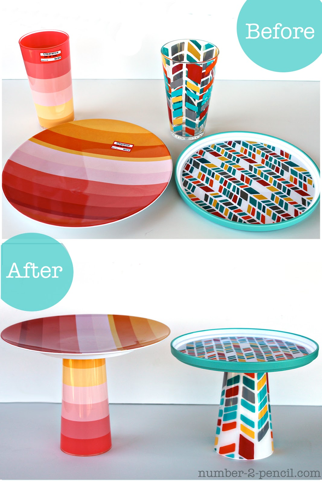 diy cake stands no 2 pencil. Black Bedroom Furniture Sets. Home Design Ideas