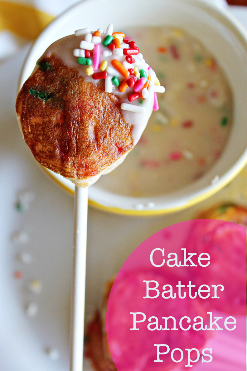 Cake Batter Pancake Pops with a Sweet Sprinkle Dip - No. 2 Pencil