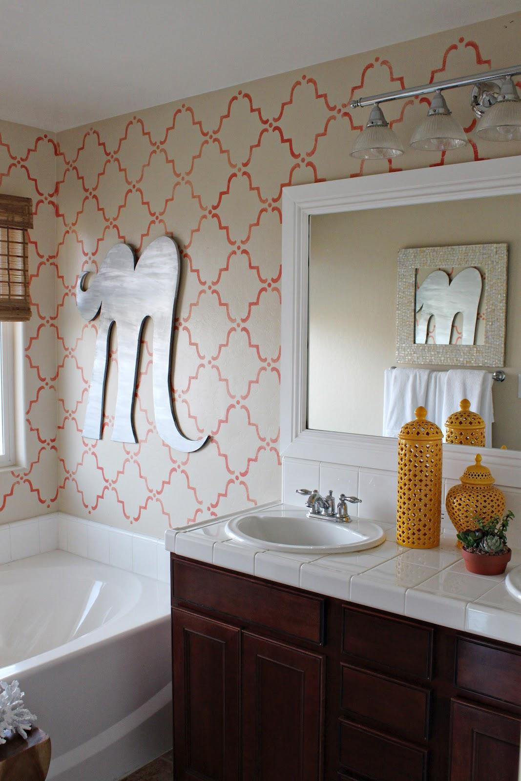DIY Oversized Zinc Letter - Anthropologie Inspired - No. 2 Pencil on kelly wearstler bathroom design, houzz bathroom design, ikea bathroom design, waterworks bathroom design,