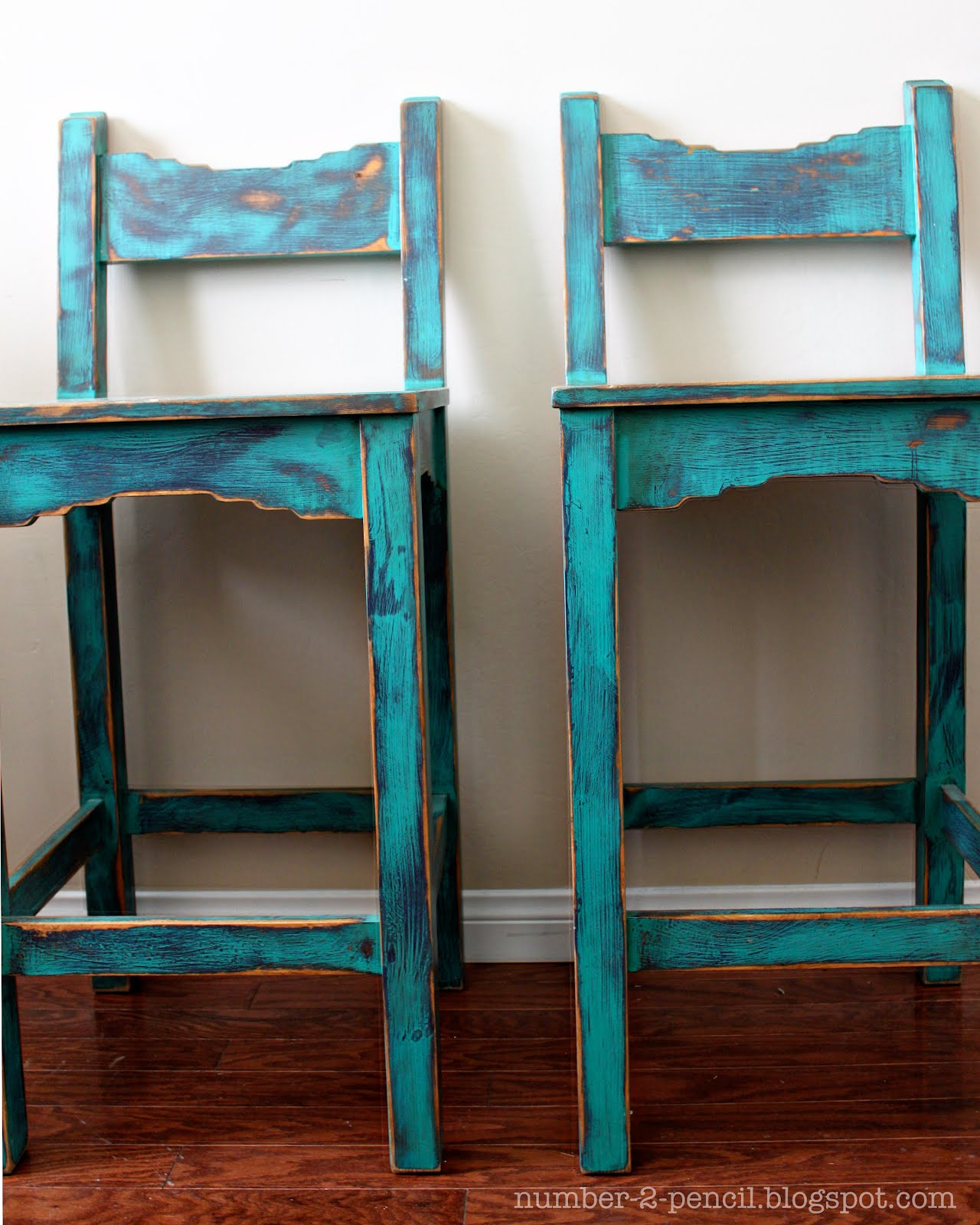 Vintage Turquoise Southwestern Bar Stools No 2 Pencil