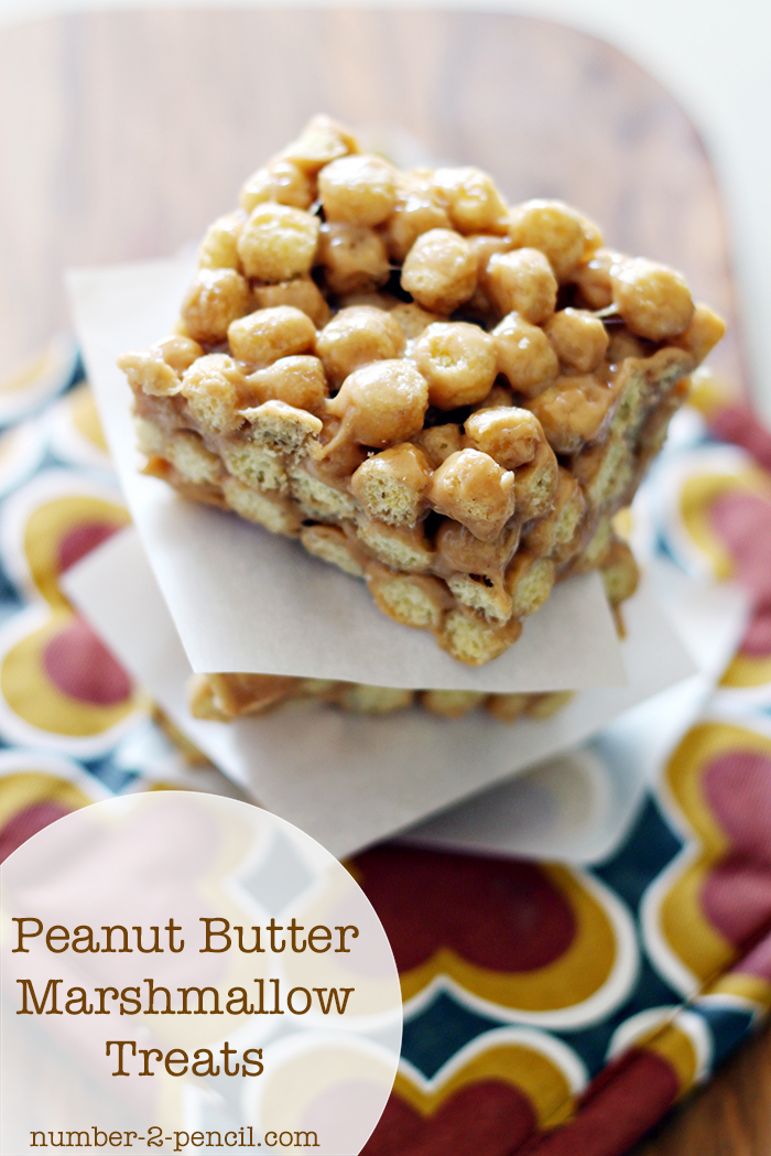 Peanut Butter Marshmallow Treats - No. 2 Pencil
