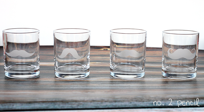 DIY Mustache Glasses, so cute and so easy to make!