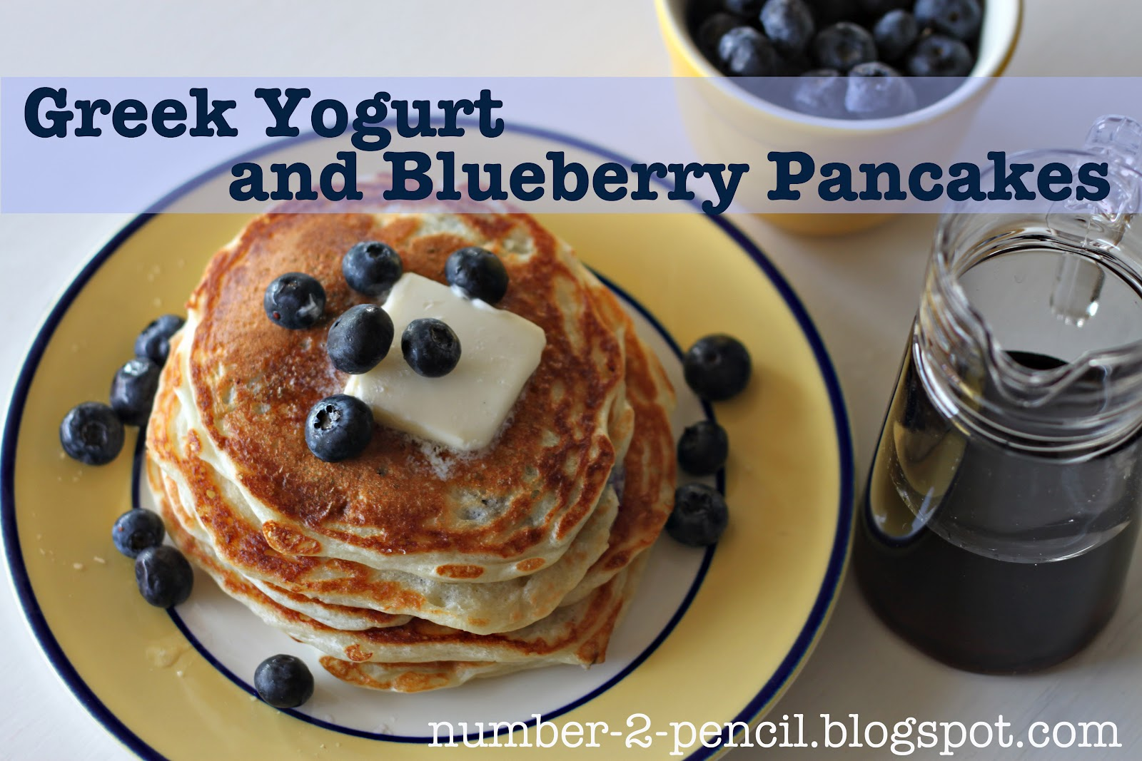 Greek Yogurt and Blueberry Pancakes - No. 2 Pencil