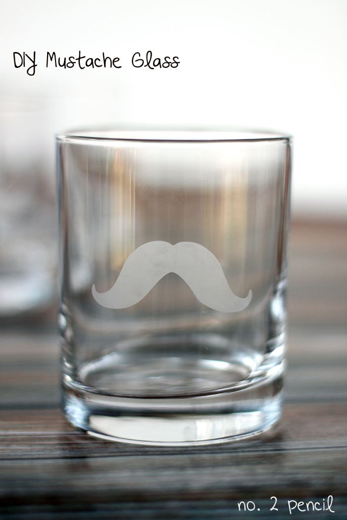 DIY mustache glasses