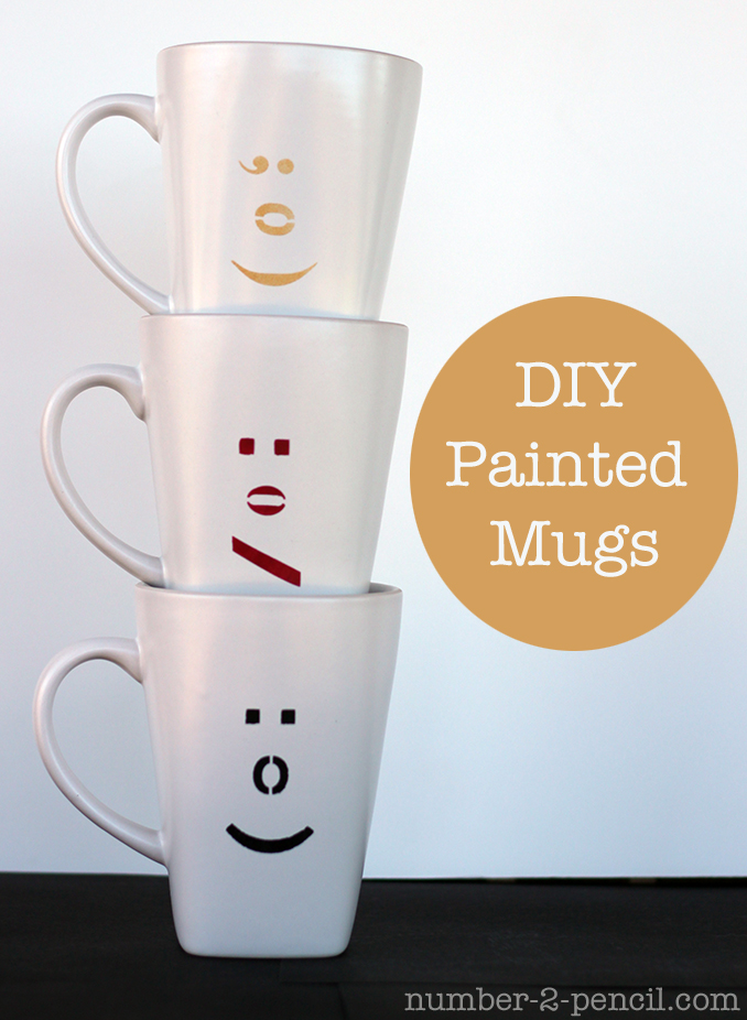 Diy Painted Ceramic Mugs With Martha Stewart Glass Paint And