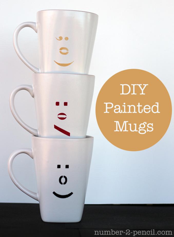 DIY Painted Ceramic Mugs with Martha