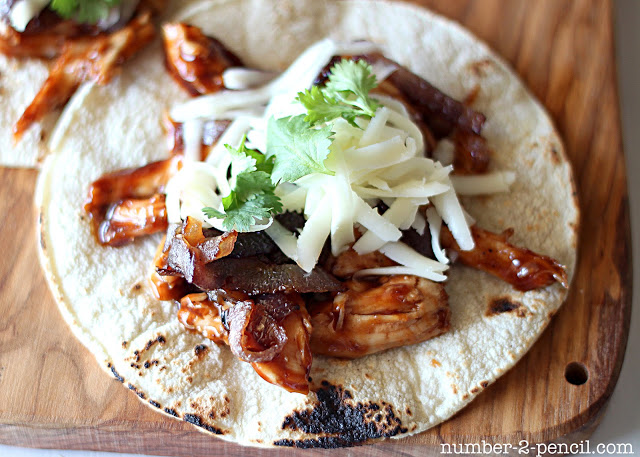 Easy BBQ Chicken Tacos with Caramelized Red Onion